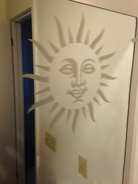 Custom Sun Decal From Www.DecalJunky.com Cut From Etched Glass Material And  Applied