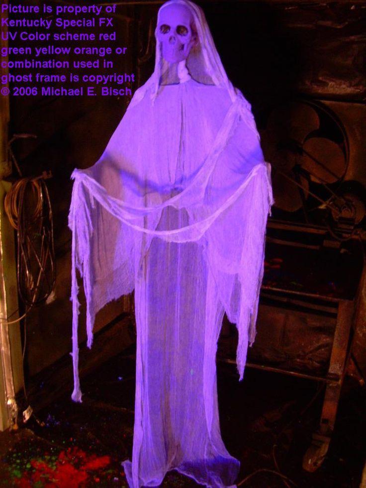 Hanging halloween floating ghost prop purple skeleton in