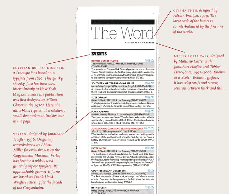 a sample page layout