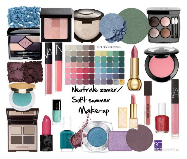 """""""Make-up. Neutrale zomer. Soft summer."""" by roorda on Polyvore featuring mode, Chanel, NYX, Essie, Charlotte Tilbury, NARS Cosmetics, Christian Dior, Becca, Kjaer Weis en Isaac Mizrahi"""