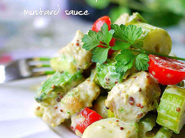チキンとセロリのマスタードサラダの画像