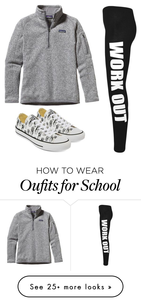 """School day today"" by melw44 on Polyvore featuring Patagonia, Converse and WearAll"
