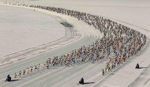 Maratona sugli sci in Svizzera da Maloja a S-Chanf  (foto di Alessandro Della Bella)