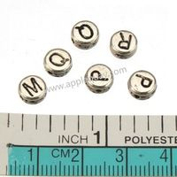200pcs 2014 New DIY Fashion,Jewelry Findings And Components,Vintage Silver,Metal,Round,Flat,Mixed,Alphabet Beads