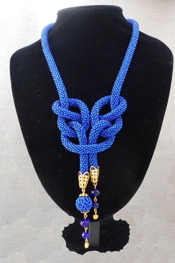 DIY:Ожерелье из бисерных жгутов