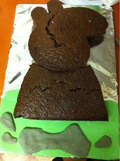 Peppa Pig Birthday Cake DIY