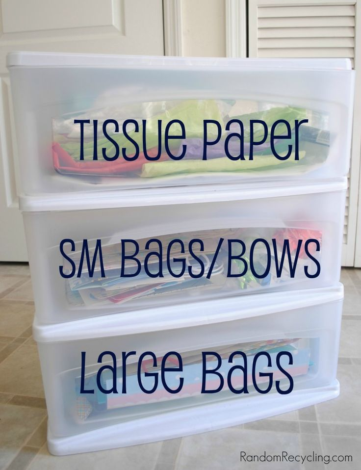 Organize Your Gift Wrap Collection | Random Recycling