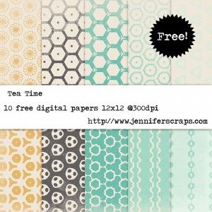 Freebie Paper Pack of the Day - Tea Time