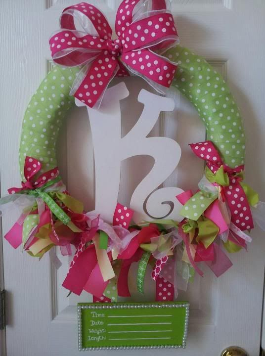Baby Girl Wreaths for Hospital Door | Wreath for hospital door?
