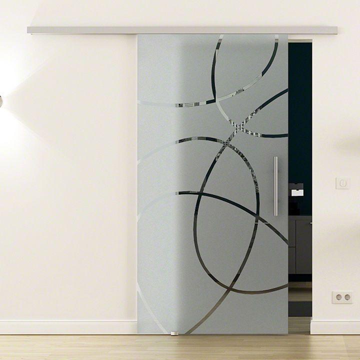 SoftClose Glasschiebetür Innenbereich inkl. Sicherheitsglas (ESG)-Marke: LEVIDOR