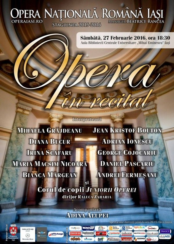 """Opera in recital"", Aula BCU Iasi"