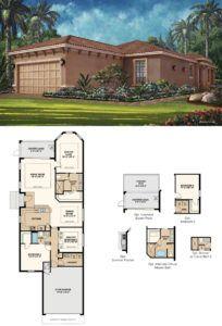 Fiddler's Creek Oyster Village Roma model by Taylor Morrison, floor plan and elevation - naplesbonitamarco.com