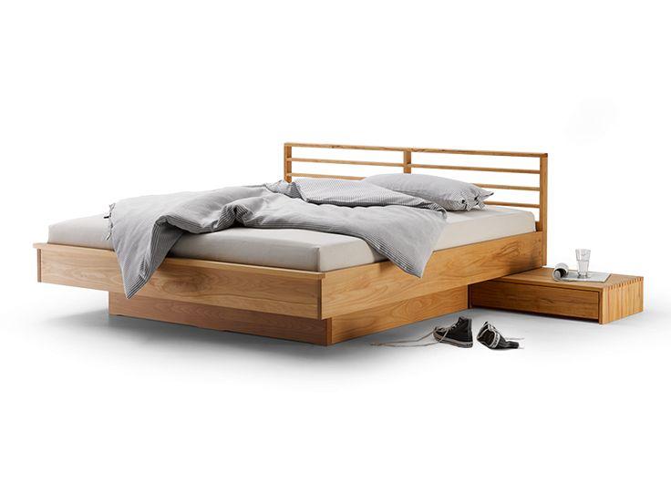 Bett Kumo mit Sprossenbetthaupt Höhe 82,2 cm, 180x200 cm, Kernbuche
