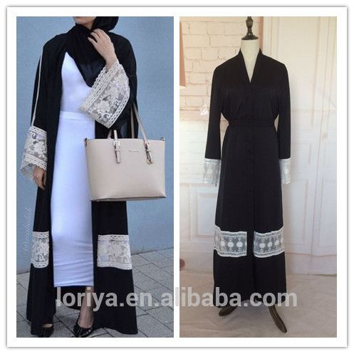 Islamic new modal abaya in dubai latest burqa designs black abaya with belt in stock muslim dubai lace front open abaya