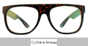 Perl Flat Bridge Clear Glasses - 273 Tortoise