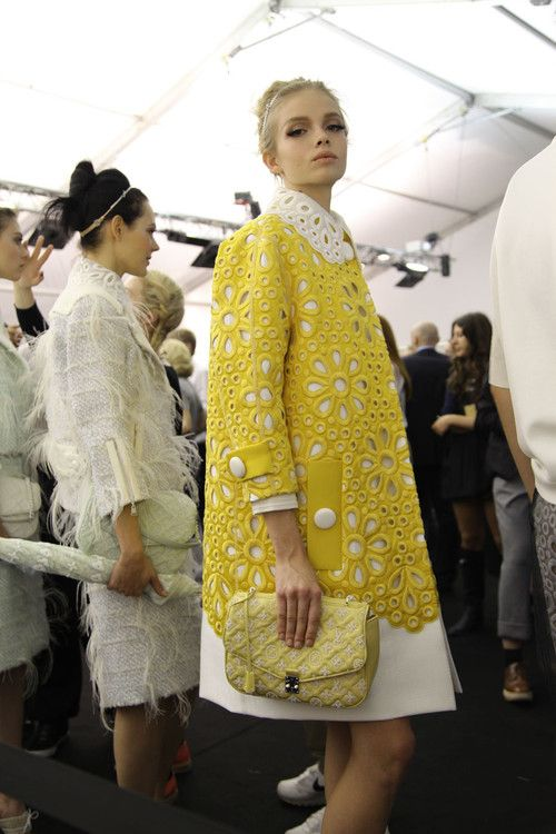 mulberry-cookies:  Backstage @ Louis Vuitton S/S 2012