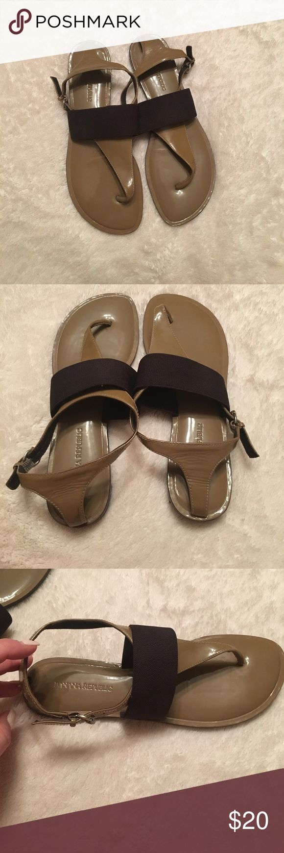 Banana Republic brown sandals Banana Republic Brown Sandals. Buckle on side. Size 7 excellent condition. Banana Republic Shoes Sandals