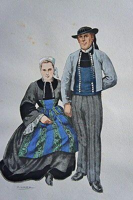 costumes bretons par les peintres. Black Bedroom Furniture Sets. Home Design Ideas