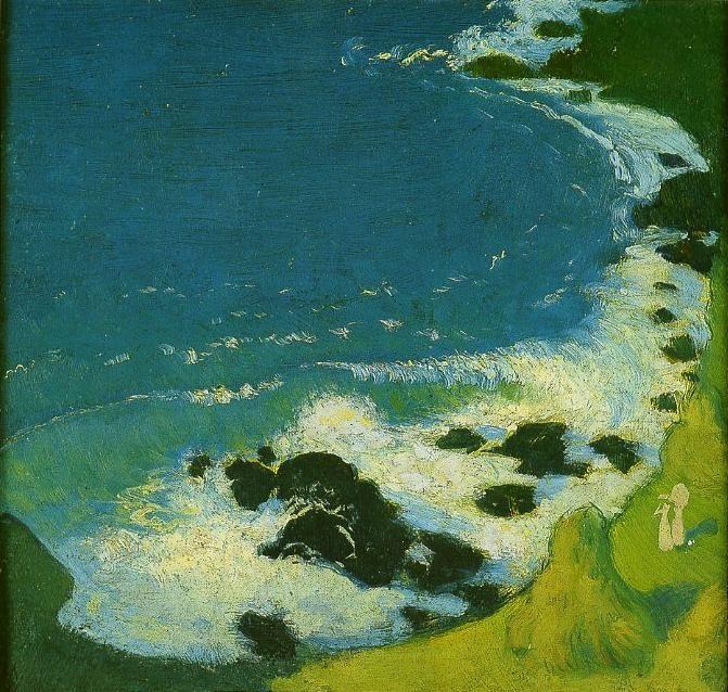 Maurice Denis, Bord de mer, 1891 or 1895 (can't find reliable info., or dimensions). Private collection.