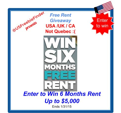 USA Freebies N Deals: Ref #Giveaway Enter to #Win FREE Rent! USA/ CA/UK