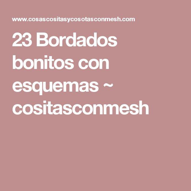 23 Bordados bonitos con esquemas ~ cositasconmesh