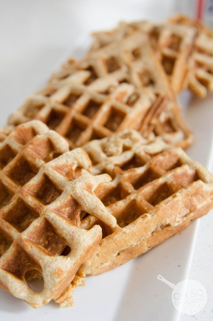 Hearty Oatmeal Waffles    Love these baby's and my baby's love them!  {ohsodelicioso}