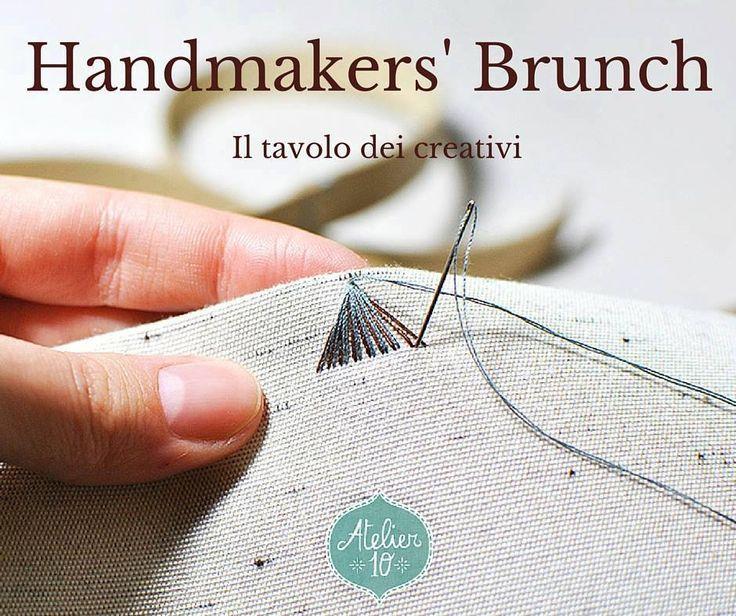 """Ecco il primo appuntamento con """"Handmakers' Brunch - Il tavolo dei creativi"""".  Per tutta giornata di oggi ogni creativo potrà presentare la propria attività, con una foto, un link alla propria pagina Facebook o al proprio spazio personale, per parlare di sè e dei propri prodotti. #Atelier10Team #HandmakersBrunch #IlTavoloDeiCretivi"""