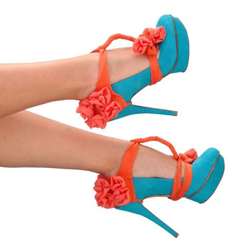 .Colors Combos, Orange Heels, Heels Condom, Summer Shoes, Summer Heels, High Heels, Summer Fun, Hello Summer, Bright Colors