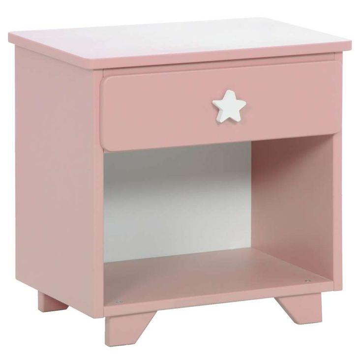 Nachtkastje Star - roze | Leen Bakker