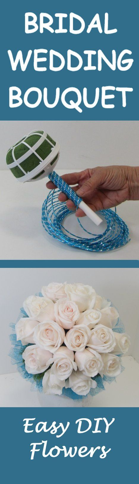 Learn How to Make Your Own Bridal Bouquet - Easy DIY Wedding Flower Tutorials   Learn how to make bridal bouquets, corsages, boutonnieres, reception table centerpieces and church decorations.  Buy wholesale fresh flowers and discount florist supplies.