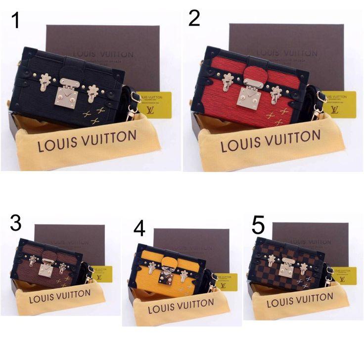 Tas LV Petite Malle Epileather Semi Premium 7162 +Free Box 20x5x12 225rb