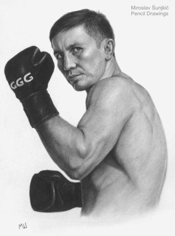 07c61216dce Gennady Golovkin GGG - pencil drawing by Miroslav Sunjkic the Pencil  Maestro #ggg #boxing #boxer #kazahstan #pencil #drawing #artwork #portrait  ...