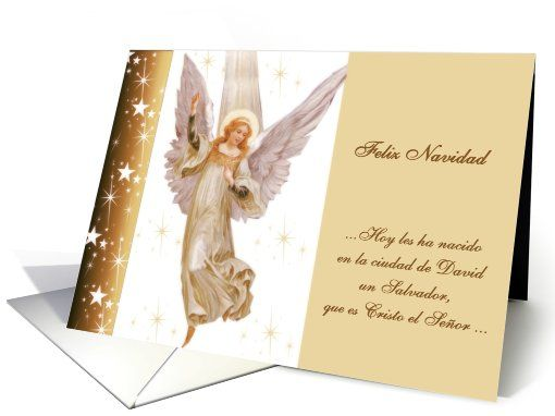 feliz navidad spanish merry christmas   translation  Luke 2:11 card