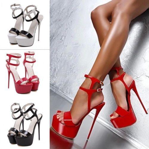 Женские туфли на платформе насосы лодыжки ремень манго высокие каблуки туфли сандалии сексуальный