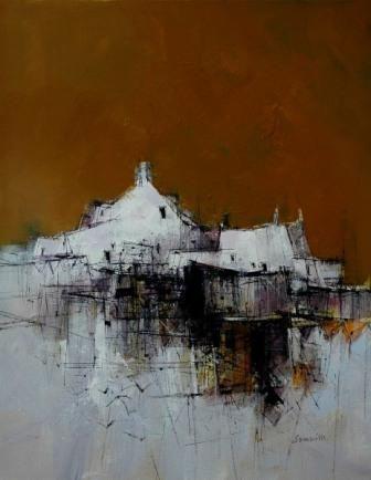 Scottish Artist James SOMERVILLE-Orange Sky