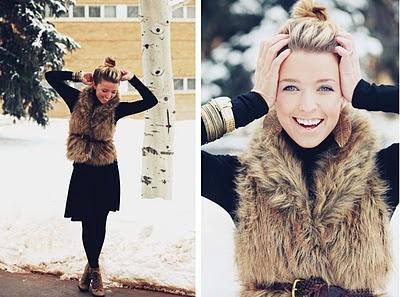 Love the faux fur!: Style, Fur Vests, Outfit, Fashion Blog, Closet, Faux Fur Vest, Fall Winter, Wear, Hair