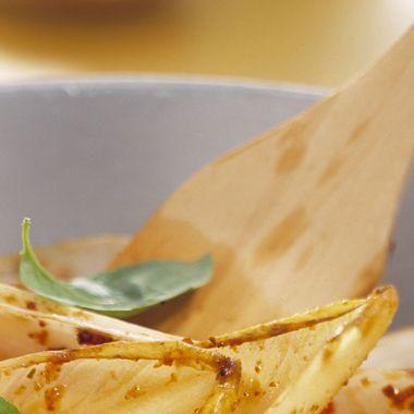 Witlof met champignons, spek en ketjap