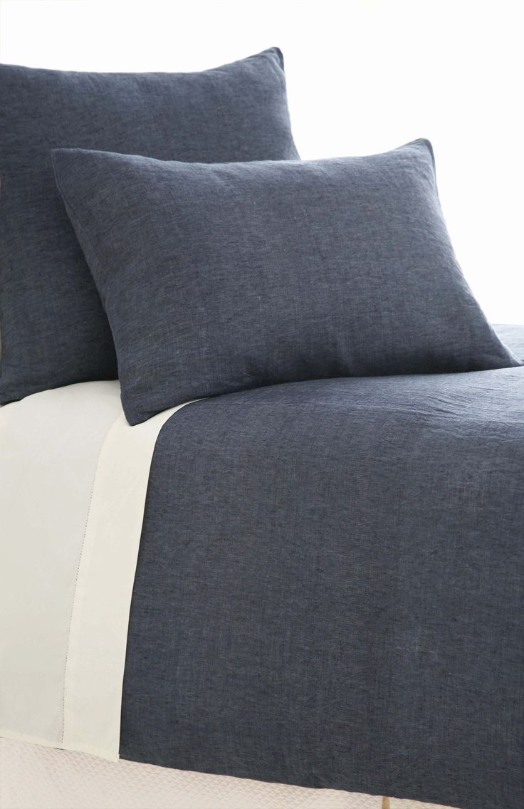 Chambray Linen Ink Duvet Cover design by Pine Cone Hill