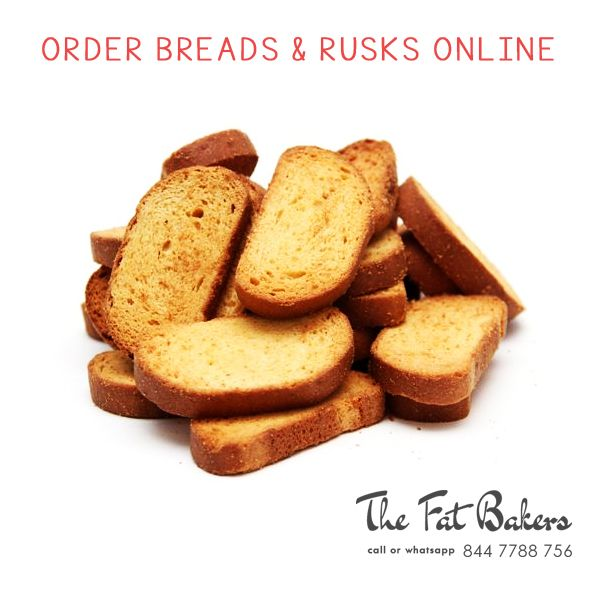 Order Breads & Rusks Online in New Delhi, India from The Fat Baker– Best Price Shop. Our rusks are specially made with best quality wheat flour and we also add many flavors to make our rusks more delicious and crispy for a very long time.  Call or WhatsApp +91- 844 7788 756 or Visit: - http://thefatbakers.com/bread-n-rusks-in-new-delhi.html