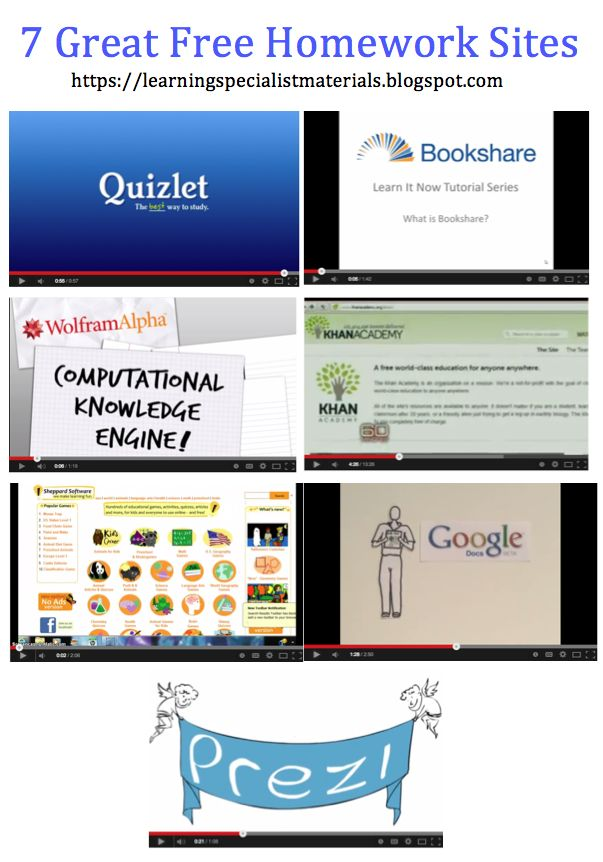 Homework help sites students