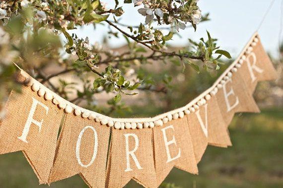 1000 Ideas About Burlap Banner Wedding On Pinterest