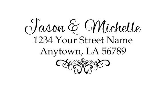 Self inking custom Personalized Return address Name rubber stamp R186