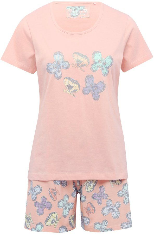 Shop for Butterfly print short pyjamas by M&Co at ShopStyle. Now for £16.