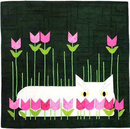 Spring Peeper Applique Cat Pattern, Charley Harper's Quilts by Treglown Designs