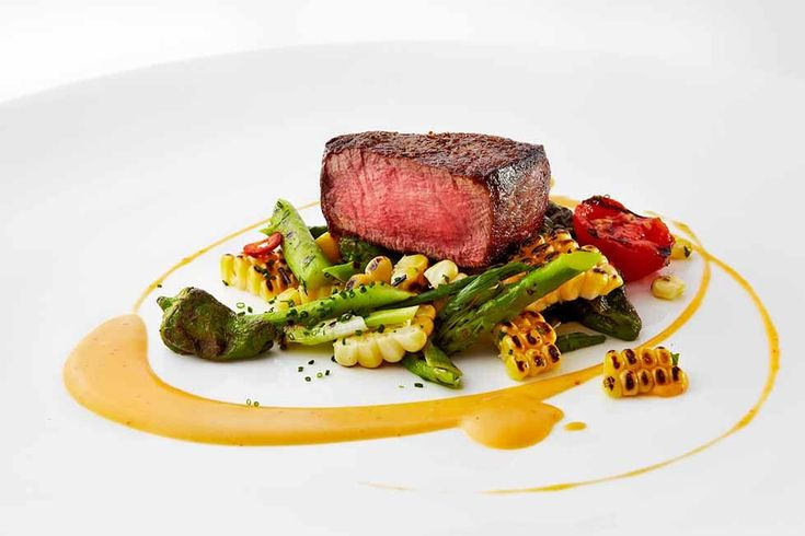 Grilled Filet Mignon with Asparagus, Charred Sweet Corn and Chipotle Butter