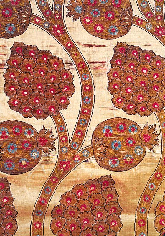 Ottoman caftan silk with pomegranate design