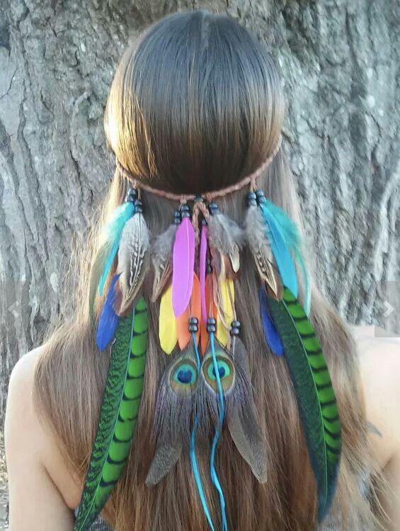 ☮ American Hippie Bohéme Boho Style ☮ Feather Headpiece