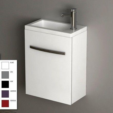 Meuble lave mains cardo 40 cm id es pour la salle de - Meuble pour cacher machine a laver ...