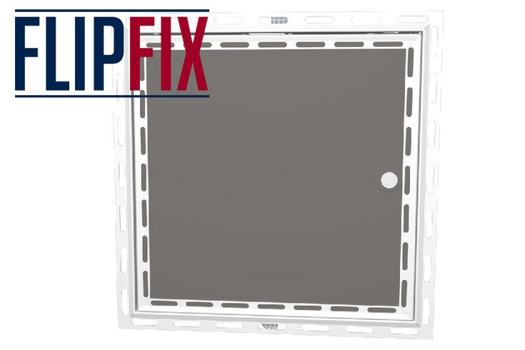 Our FlipFix Plasterboard Door Access Panel Beaded Frame is a dual purpose wall and ceiling access panel with a FlipFix mechanism for easy installation. Our FlipFix Mechanism allows quick fixing of the panel into an existing wall or ceiling. #FlipFix #Manufacturing #AccessPanels #WallAndCeiling #MarketingMonday
