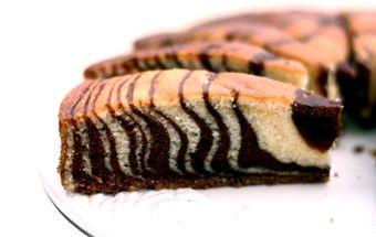 Кекс Зебра на кефире - нежная и изумительно вкусная выпечка!